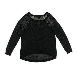 DKNY Jeans Women's Sequined Crewneck Pullover Sweater - Black - Size: S