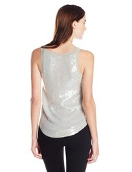 French Connection Women's Winter Mist Top - Marble Grey - Size: 10