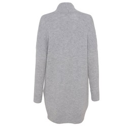 French Connection Women's Winter Fluff Knitted Cardigan - Grey - Size: L