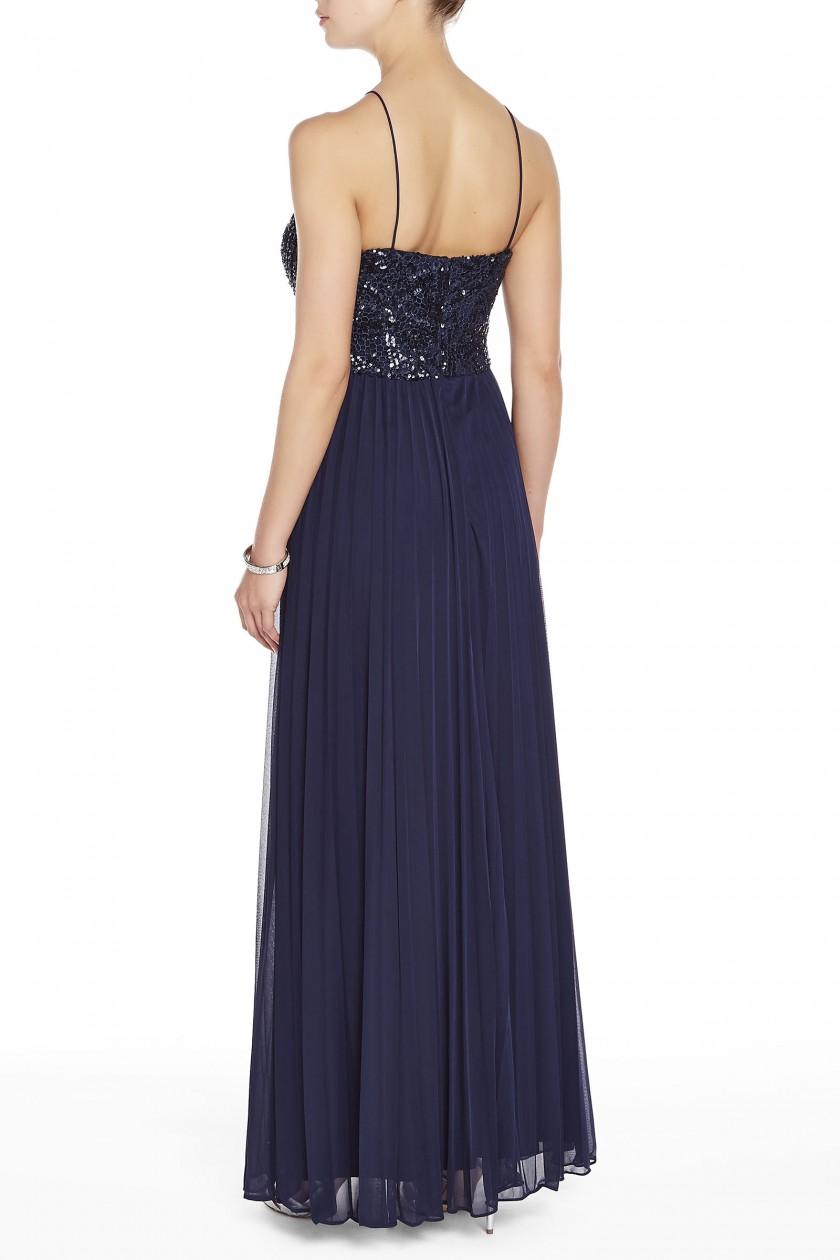 Melanie Lyne Women\'s Cachet Beaded Halter Top Gown - Navy - Size: 4 ...