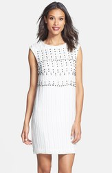 French Connection Women's Riobamaba Beads Shift Dress - White - Size: 4