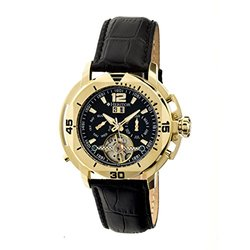 Heritor Automatic Men's Watch: Lennon/HR2804-Black Dial/Gold Trim