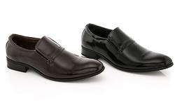 Franco Vanucci Men's Slip-on Dress Shoes: Black/9.5