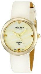 Akribos XXIV Women's Swiss Quartz diamond Strap Watch AKGP687YGW