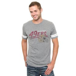 NFL San Francisco 49ers Throwback Stripe T-Shirt - Steel - Size: Large