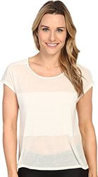 ASICS Women's Burnout Short Sleeve Top -  Icicle - Large