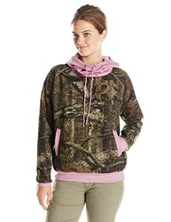 Yukon Gear Women's Funnel Neck Hoodie- Mossy Oak/Grape - Size: Small