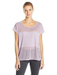ASICS Women's Burnout Short Sleeve Top, Lilac, Medium
