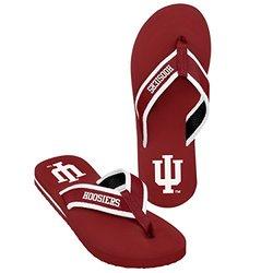 NCAA Indiana Hoosiers Men's 2013 Contour Flip Flop - Red - Size: Large