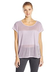 ASICS Women's Burnout Short Sleeve Top, Lilac, Small