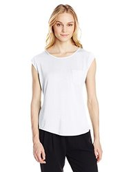 Calvin Klein Women's Essential One Pocket T-Shirt - White - Size: Small
