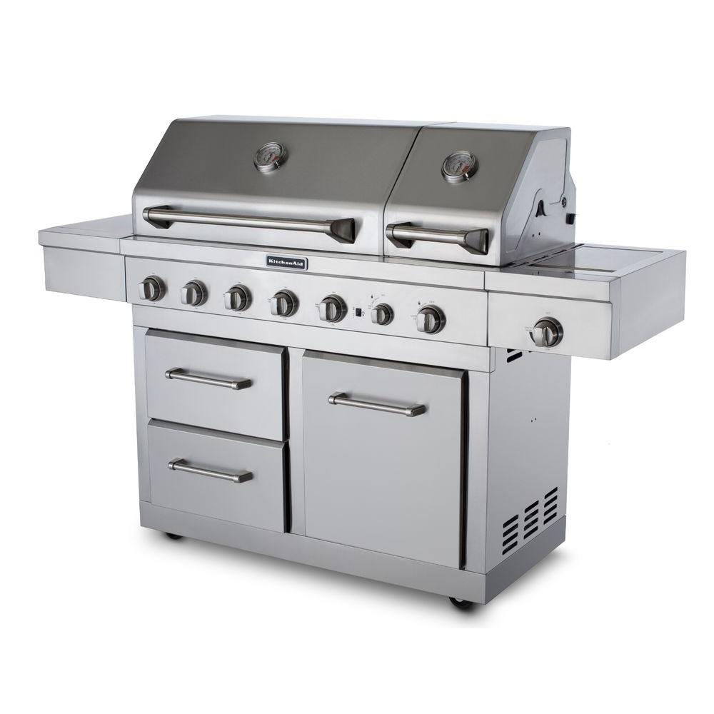 Kitchenaid 6 Burner Dual Chamber Gas Grill With Grill