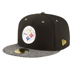 Men's Pittsburgh Steelers NFL 2016 59Fifty Fitted Cap - Black/Grey - 6 7/8