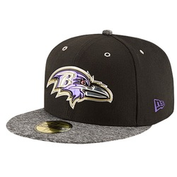 Men's Baltimore Ravens NFL 2016 59Fifty Fitted Cap - Black/Grey - Sz:7 5/8