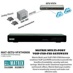Matrix ComSec 16-VoIP 8-FXO 8-FXS Gateway - Black