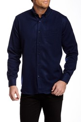 Slate & Stone Men's Dress Shirt - Navy - Size: Small