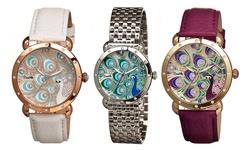 Bertha Women's Genevieve Leather Strap Watch - White