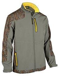 Yukon Gear Men's Windproof Softshell Fleece Jacket, Mossy Oak Bottomland, X-Large