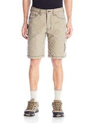prAna Men's Murray Relaxed Fit Shorts, Dark Khaki, Size 32