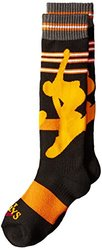 Hot Chillys Youth Snowboarder Mid Volume Socks, Small, Snowboard/Black