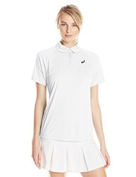 ASICS Women's Club Short Sleeve Polo T-shirt - Real White - Size: Large
