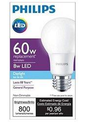 Philips 60W Equivalent Daylight A19 LED Light Bulb (455955)