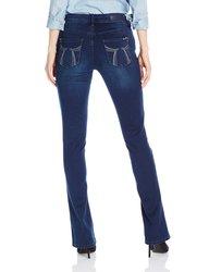 Seven7 Women's Dark Wash Rocker Slim Leg Jean - Allure Blue - Size: 10