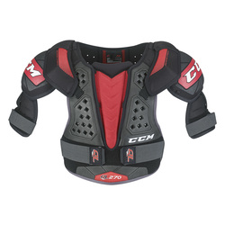 CCM QuickLite 270 Jr Shoulder Pads - Red/Black - Size: Large