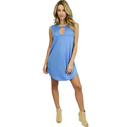 Ohconcept Collection Women's Keyhole Tank Dress - Turquoise - Size: Small