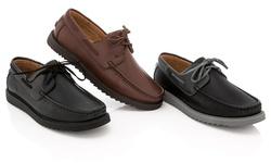 Franco Vanucci Men's Boat Shoes - Brown - Size: 11.5 M
