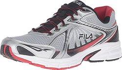 Fila Men's Omnispeed Sneaker - Metallic Silver/Red/Black - Size: 10.5M