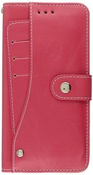 Dream Wireless Artisan Leather Wallet Pouch for iPhone 6 Plus - Retail Packaging - Hot Pink
