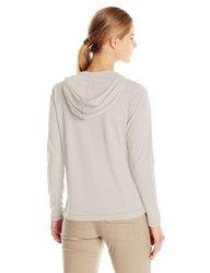 White Sierra Women's Bug Free Zip Hoodie - Silver/Grey - Size: Small