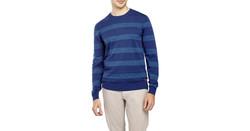 Ben Sherman Men's Stripe Sweater - Blue - One Size Fits Most