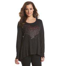 Oneworld Women's Loving Gesture Print T-Shirt - Black - Size: L