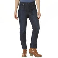 Gloria Vanderbilt Women's Amanda Embroidered Jeans - Blue - Size: 8