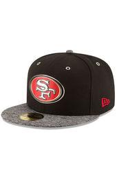 New Era Men's NFL San Francisco Cap - Black/Grey - Size: 6