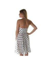 Betsey Johnson Women's Halter Polka Dot Dress - White Sapphire - Size: 6