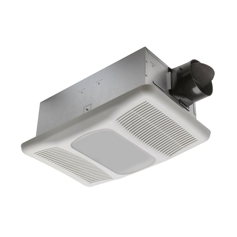 2 Bulb 80 Cfm Ceiling Bathroom Exhaust Fan With Light And: Radiance Series 80 Cfm Ceiling Exhaust Bath Fan With Light