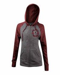 Women's NFL Atlanta Falcons Tri-Blend Zip Hoodie - Gray - Size: Large