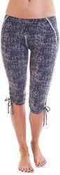 Women's Zola Printed Crop Leggings w/ Side Ties -Power Stripe -Size: Small