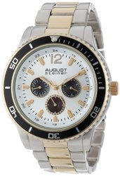 August Steiner Men's Watch: ASGP8059TTG/Two-Tone Band-Silver Dial