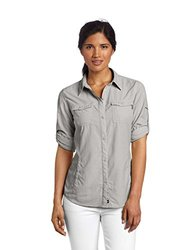 Columbia Women's Bug Shield Long Sleeve Shirt, Flint Grey, X-Small