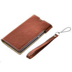 Simplism Flip Note Case for Xperia Z3 - Brown