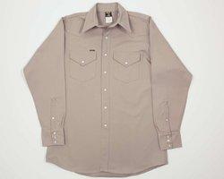 Lapco FR LS-24 L Heavy-Duty Welder's Shirts, 100% Cotton, 10 oz, 24 Large, Khaki