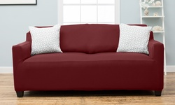 Twill Form Fitting Stretch Slipcover - Wine - Size: Sofa