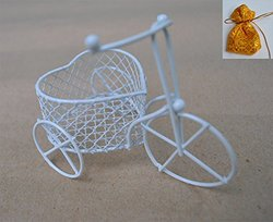 Siamproviding Handmade Flower Basket Storage Container - Metal Wire Weave