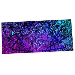 "KESS InHouse Ebi Emporium ""Reach For The Stars"" Pink Teal Office Desk Mat, Blotter, Pad, Mousepad, 13 x 26-Inches"