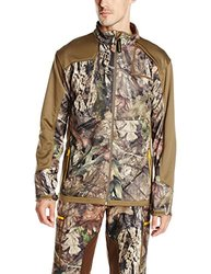 Yukon Gear Men's Technical Fleece Midlayer Jacket, Mossy Oak Break-Up Country, Medium