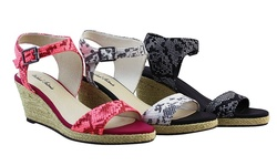 Michael Antonio Women's Goss-Rep Wedge Sandal - Hot Pink - Size: 9 M